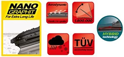 Roomster 2007-2015 set of 3 windscreen wiper blades from HEYNER HH2121TL13V