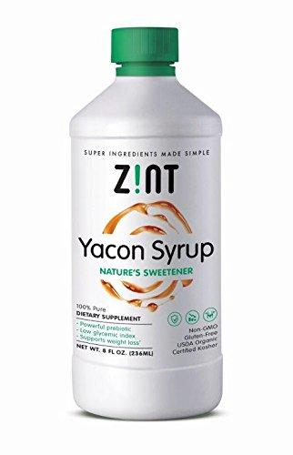 Zint Yacon Syrup: Organic, Non-GMO Prebiotic Sweetener (8 fl oz) by Zint