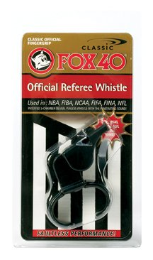 Fox 40 Classic Official Referee Whistle with Finger Grip