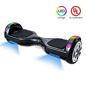 Hoverboard V800 - UL Certified Self Balancing Hover board, 6.5'' Two wheel Self-balancing Scooter speeds of 9.6mph(top led light built in)