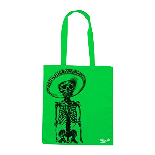 Borsa Skull Mariachi - Verde prato - Famosi by Mush Dress Your Style