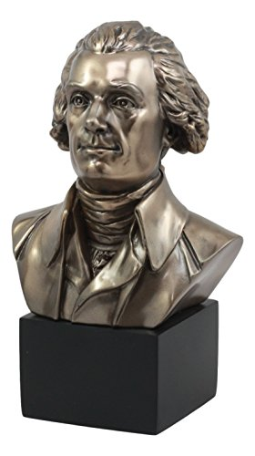 Ebros US Third President Thomas Jefferson Bust Statue Historical Political Genius Declaration of Independence One of The Founding Fathers Jefferson Figurine Great Gift for Civil Servants Patriots