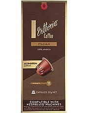 Vittoria Italian Coffee Capsules / Pods | Nespresso machine Compatible | Arabica Coffe, Vittoria Italian Coffee, 5.2 g (Pack of 10)