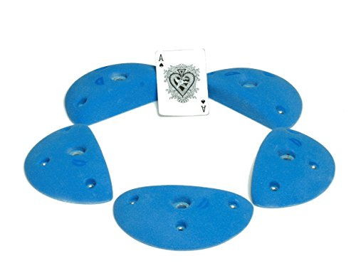 Driftless Climbing Holds 5 Angle Set of Edges (1 inch depth) FACTORY SECONDS. Indoor Competition Rock Climbing Holds. 5 Holds with bolts and t nuts