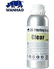Wanhao 22343Impresora 3d UV Resin, 1000ml, transparente