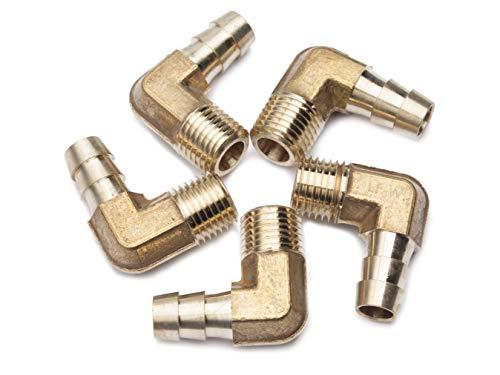 LTWFITTING Lead Free 90 Deg Elbow Brass Barb Fitting 3/8