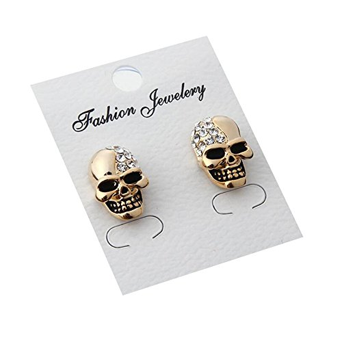 darkey-wang-unisex-retro-glossy-full-diamond-skull-personalizeds-earrings-gold
