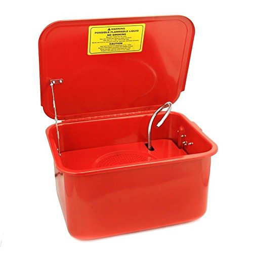(3.5 Gallon portable Parts Washer Electric Solvent Pump auto garage Cleaning new)