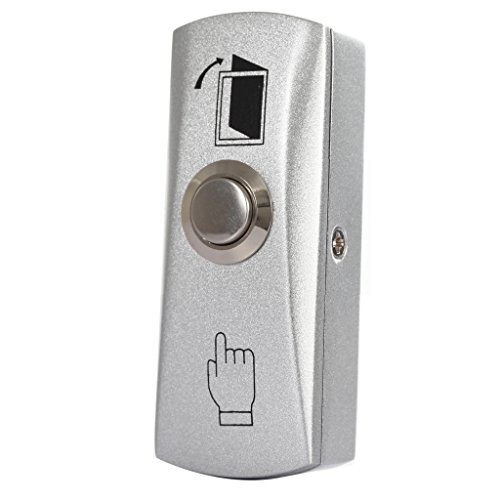 UHPPOTE Zinc Alloy Shell Door Push To Exit Button NO/COM Output for Access Control