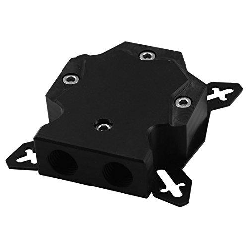 - uxcell Acrylic Computer GPU Universal Water Cooler Cooling Block Radiator Black