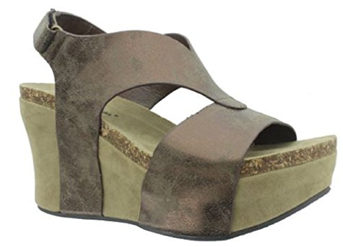 - Pierre Dumas Women's Hester-6 Wedge Sandal,Bronze,9