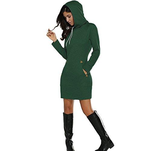 CharMma - Sudadera con capucha - para mujer Verde