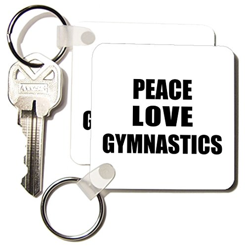 Happiness is - Peace Love and Gymnastics - Things that make me happy - gymnast gift - Key Chains