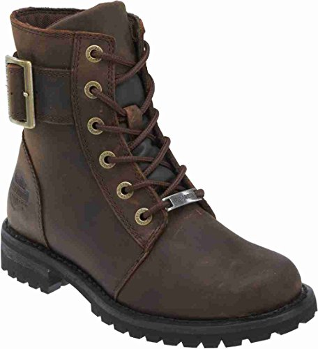 Harley-Davidson Women's Sylewood 6.25-Inch Motorcycle Boots. D87087 (Brown, 6.5)