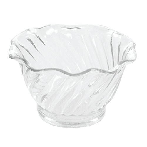 Carlisle 453007 Mini Plastic Dessert Tasting Cup, 5 oz, Clear (Pack of 24)