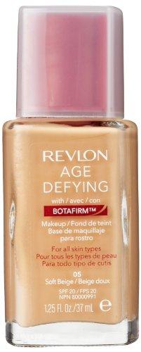 Revlon Age Defying Makeup with Botafirm, SPF 20, Normal/Combination Skin, Soft Beige 05, (Revlon Spf 20 Foundation)