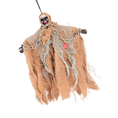 BESPORTBLE Halloween Hanging Ghost Props Scary Creepy Skeleton Animated Decoration Indoor Outdoor Hanging Dolls Decoration -