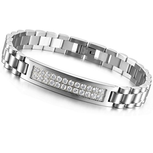 INBLUE Stainless Steel Bracelet Silver