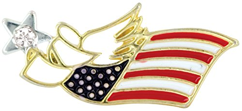 US FLAG PATRIOTIC Wings & Wishes Angel Pin