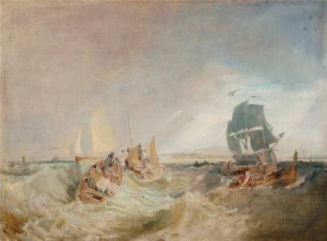 Oil Painting 'Joseph Mallord William Turner - Shipping At The Mouth Of The Thames,1806-1807' 12 x 16 inch / 30 x 41 cm , on High Definition HD canvas prints, - Pacific Tel Limited