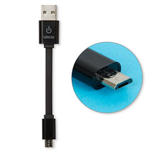 CableLinx Micro to USB Charge Cable for Android, Samsung, Windows, MP3, Camera and More (Black)