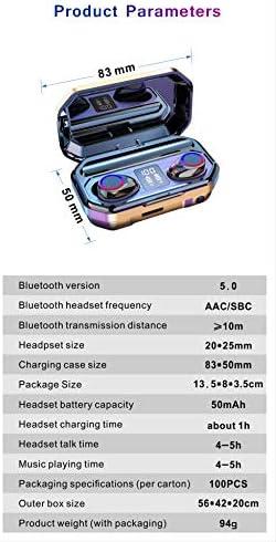 Bluetooth-headset Binauraal Twsled-power Display Zeefdruk Touch 5.0 Draadloze Beweging wit