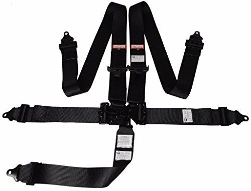- Racerdirect.net Universal Latch & Link 5 Point SEAT Belt Floor Mount Racing Harness Black