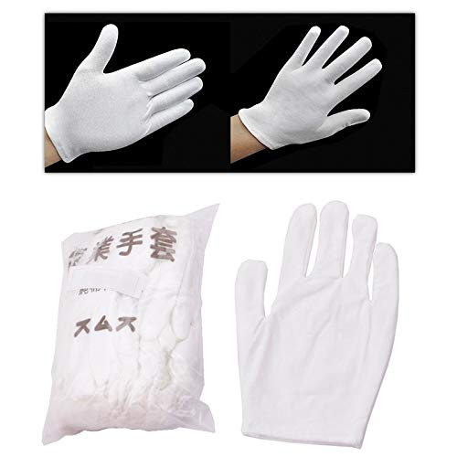 LIShuai 12 Pairs Lightweight Inspection Cotton Lisle Work Gloves Coin Jewelry COS (Size: 12) from LIShuai