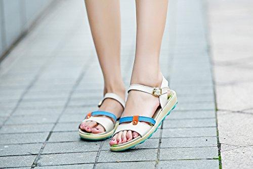 VWU - Sandalias de vestir para mujer albaricoque