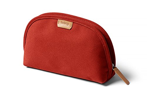 (Bellroy Classic Pouch, everyday kit, woven fabric (pens, cables, cosmetics, personal items) - Red Ochre)