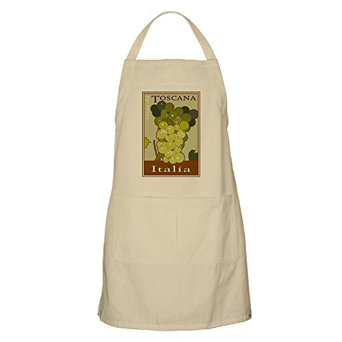 CafePress Wines of Tuscany, Italy BBQ Apron Kitchen Apron with Pockets, Grilling Apron, Baking Apron