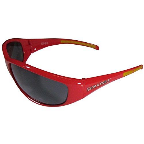 NHL Ottawa Senators Wrap Sunglasses, Red, ()