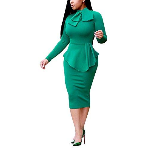 Ottica Aro Lora Affari Femminile Girocollo Bodycon Illusione Da Verde Vestito wwTqrn6OxE