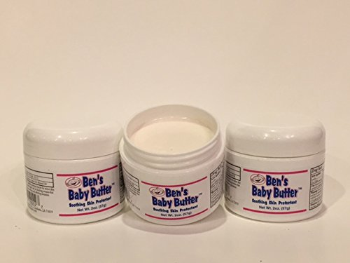 Paste Diaper Rash Ointment Jar (Ben's Baby Butter, Smooth Creamy Diaper Rash Ointment, 2 oz Jar)