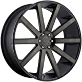 DUB 1PC SHOT CALLA MATTE BLACK DOUBLE DARK TINT SHOT CALLA 22x10.5 5x127.00 MATTE BLACK DOUBLE DARK TINT (35 mm) WHEEL