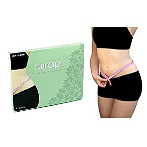 THE WRAP by Zen Jane - It Works to Tone Tighten & Firm - 4 Ultimate Body Contouring Cream Infused Cloths - Reduce Fat and Trim Down Inches