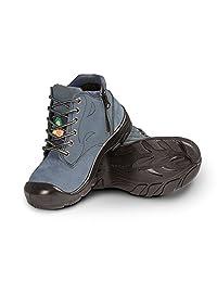 "Women's steel toe work boots with zipper - Marine (6"")"