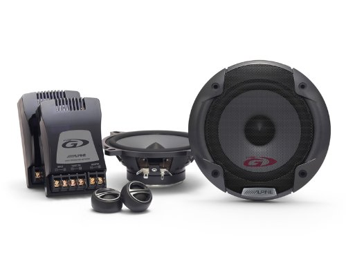 Alpine SPG-13CS - Altavoces (200 W, 50 W RMS, 82 Hz - 20 kHz, 87.5 dB), negro car audio speakers grills 13c2 watts component Car HiFi Portable_Electronics SPG13 SPG13CS Alpine Innovations/camgrip components