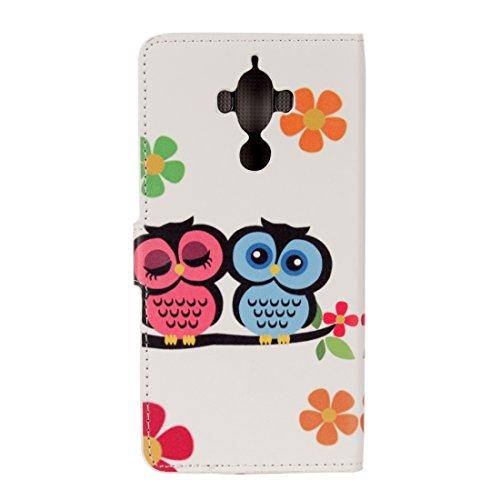 Mobile Phone Cases&decorate Huawei Mate 9 patrón de mariposa azul horizontal Flip caja de cuero con titular y ranuras para tarjetas y cartera ( SKU : Mlc0979p ) Mlc0979e