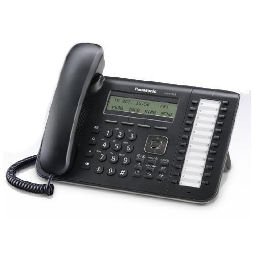 Panasonic Business Telephones KX-NT543-B 3-Line Backlit Lcd Display- 24 Flexible by Panasonic (Certified Refurbished)