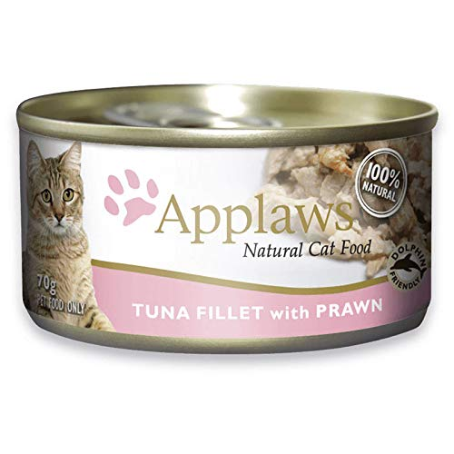 APPLAWS CAT Tuna Fillet with PRAWN TIN 70G 24'S (A5295)