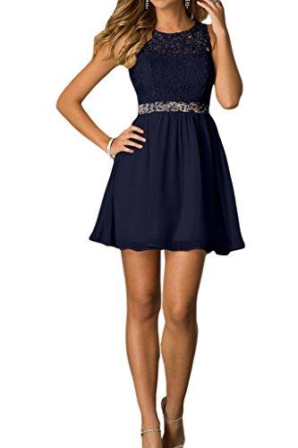 A Abendkleid Tintenblau Ivydressing Chiffon Liebling Brautjungfernkleider Partykleid Cocktailkleid Damen Linie Steine amp;Spitze qWfFZ