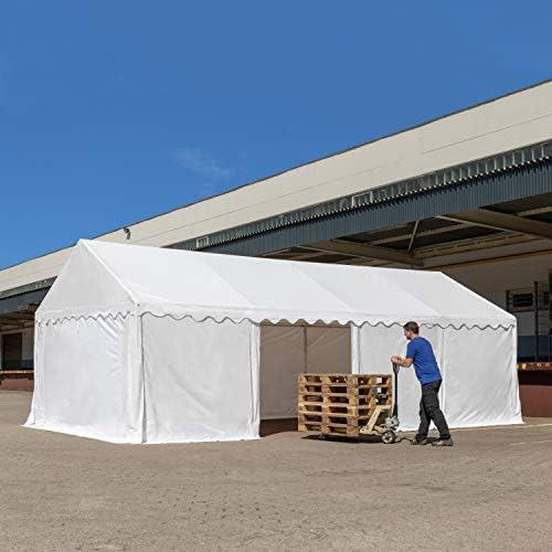 TOOLPORT Carpa de almacén 4x6m Carpa de pastoreo con 500g/m² de Lona PVC Impermeable Gris: Amazon.es: Jardín