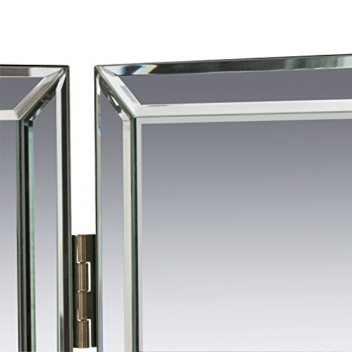 """Houseables Trifold Vanity Mirror, 3 Way, 31"""" x 1"""" x 21"""", Single, Tri Fold, Big Mirrors For Tables, Bedrooms, Bathroom, Makeup, Tabletop, Centerpiece, Three Part, With Beveled Edges by Houseables (Image #8)"""