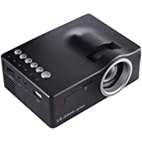 1080P HD Projector Home 50LUX LCD LED Video MulitMedia Theater Cinema equipped AV USB TF HDMI Input Terminal