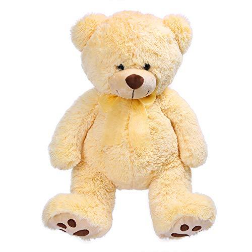 LotFancy Big Teddy Bear Stuffed Animals, Soft Cuddly Teddy Bear Plush Toy Gifts for Kids, Girls, Beige, (17 - Minky Teddy