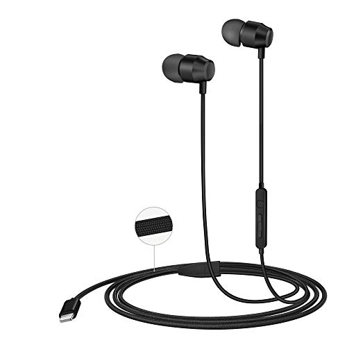 PALOVUE Earflow in-Ear Lightning Headphones Magnetic Earphones MFi Certified Earbuds with Microphone Controller Compatible iPhone X/XS/XS Max/XR iPhone 8/P iPhone 7/P (Nylon Black)