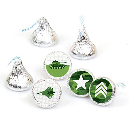 - Camo Hero - Army Military Camouflage Party Round Candy Sticker Favors - Labels Fit Hershey's Kisses (1 Sheet of 108)