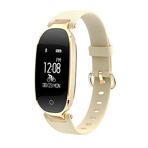 Shop Remote Phone Jack (YL-Light Calorie Counters Smart Wristbands Waterproof Fitness Bracelet Heart Rate Monitor Fitness Bracelet Band Gift to Lady for iOS Android Phone,Gold)
