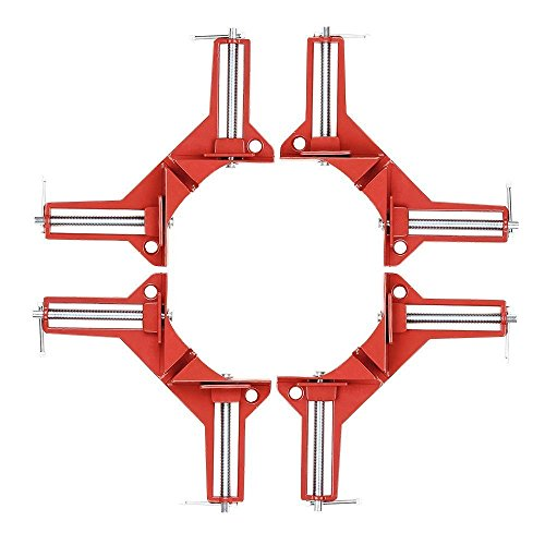 Zinc Alloy Right Angle Clamp 90 Degree Clamp Miter Picture Frame Clamp, Woodworking Kit Framing Vise Holder - 4pcs Corner -